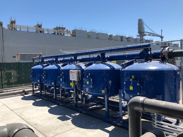Industrial Water Treatment System on Pier 96 in San Francisco