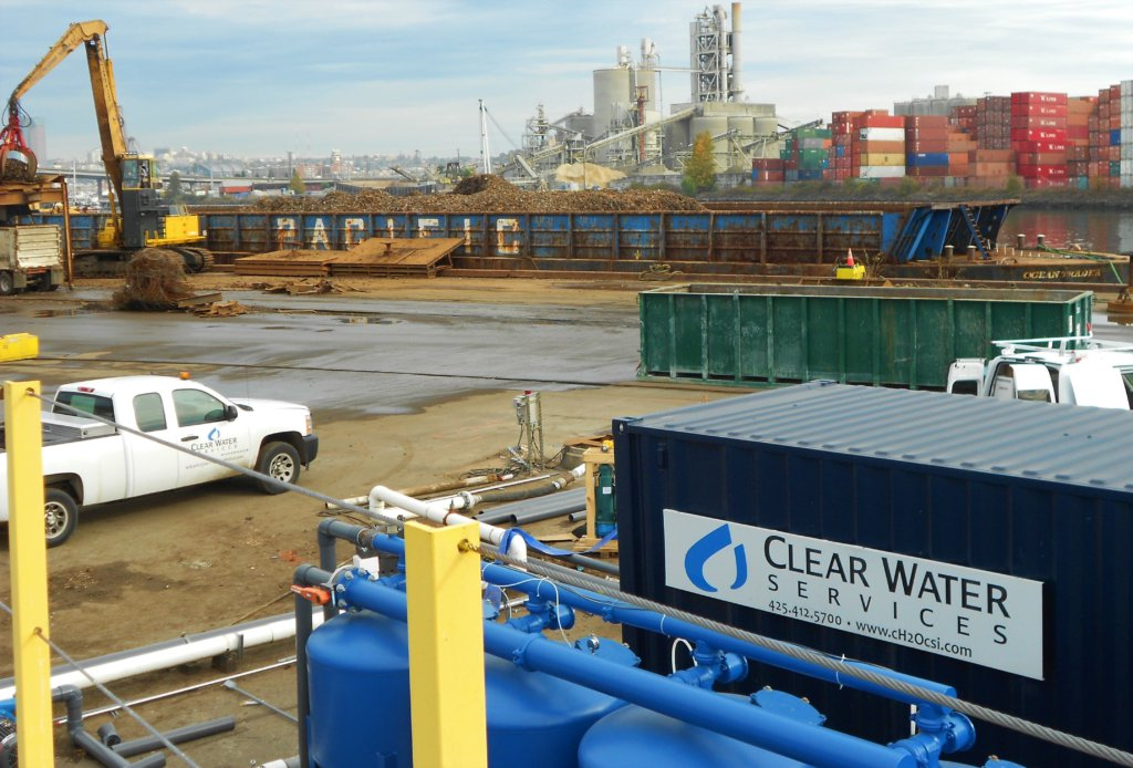 Water treatment system at a scrap metal facility in Seattle