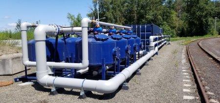 EVRAZ steel water filtration pods close-up